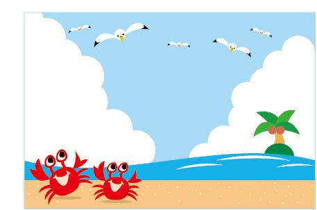 夏の海のイラスト