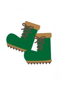 登山靴のイラスト