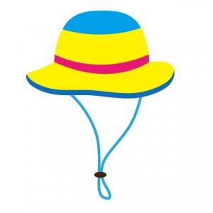 紐付きの帽子のイラスト