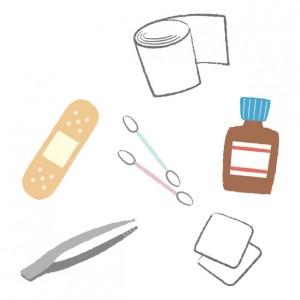 救急用品のイラスト
