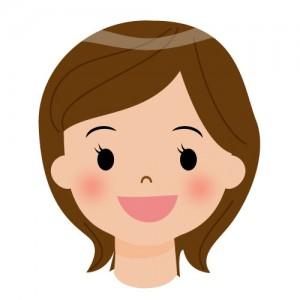 優しそうな笑顔のお姉さんのイラスト