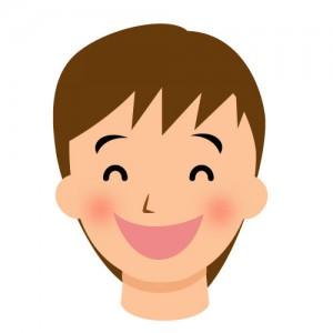 優しそうな笑顔のお兄さんのイラスト