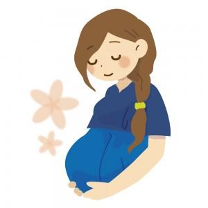 幸せそうな妊婦さんのイラスト