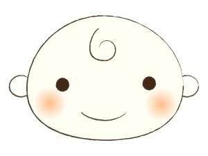 赤ちゃんの顔のイラスト