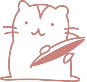 ナッツ類を食べようとしてるリスのイラスト