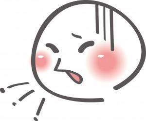 咳に苦しんでる人のイラスト