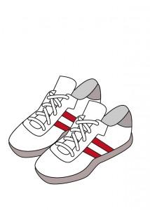 運動靴のイラスト
