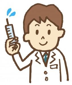 注射器を持ったお医者さんのイラスト