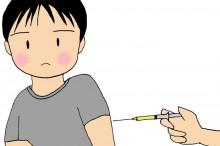 予防接種の注射を打たれてる男性のイラスト