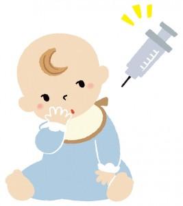 予防接種を受けてる赤ちゃんのイラスト