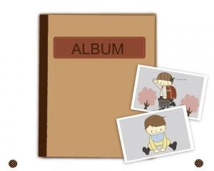 アルバムと写真のイラスト