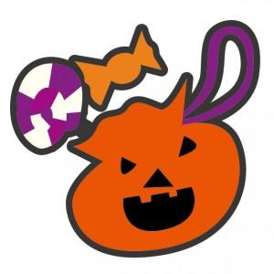 ハロウィンのお菓子のイラスト