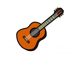 フォークギターのイラスト
