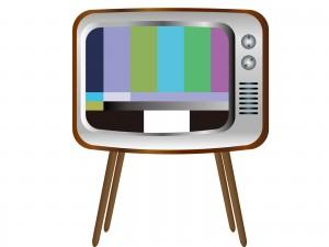 レトロな脚つきテレビのイラスト