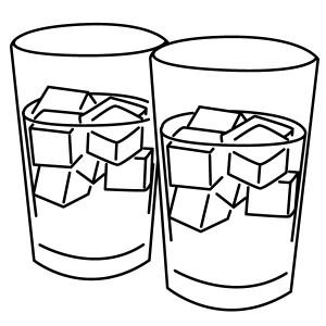 氷の入ったコップのイラスト