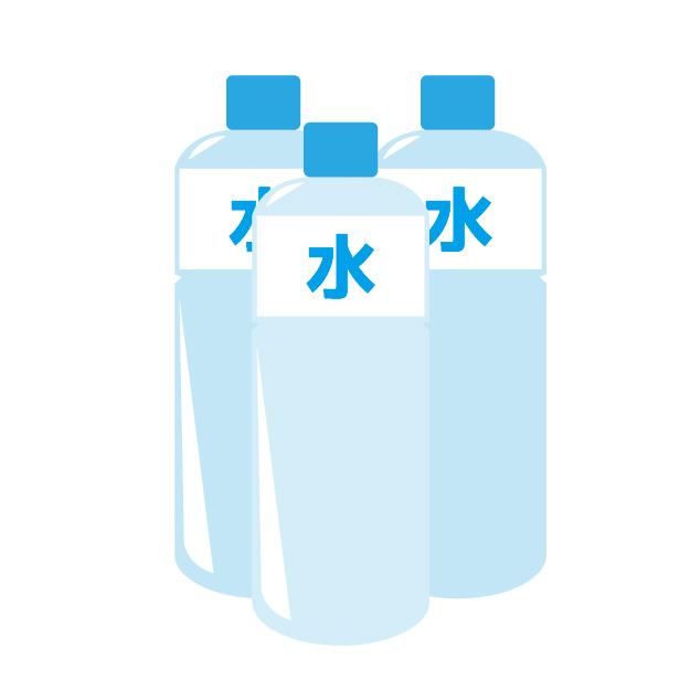 ペットボトルに入った水のイラスト